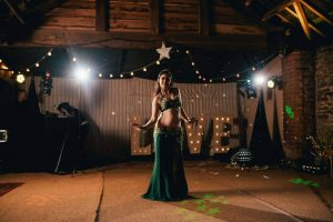 Julie BellyFire bringing Bellydance Magic to an event